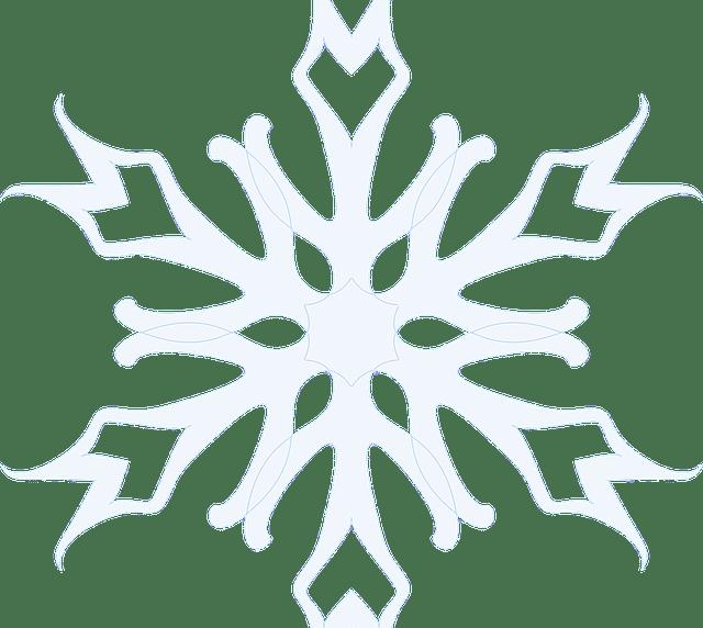 Tegning av et snøflag